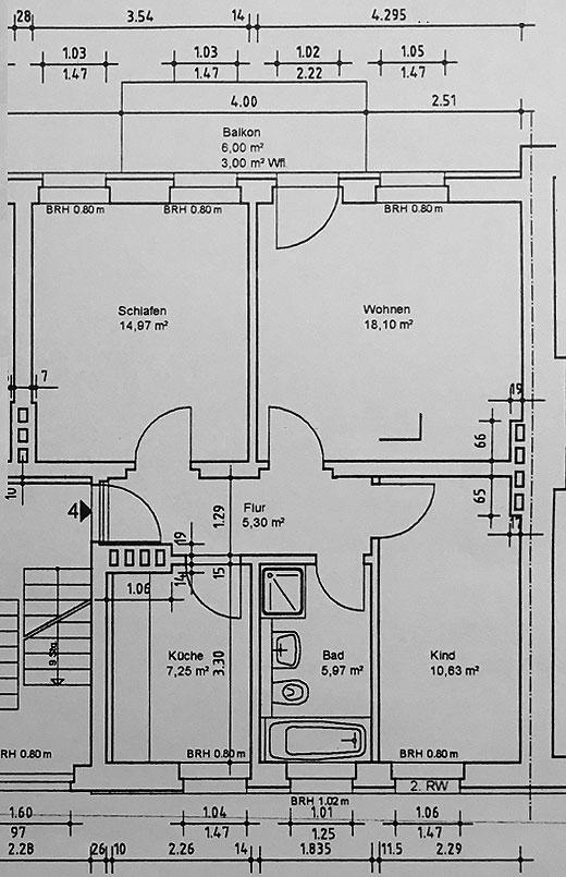 vermietet sch ne gut geschnittene 3 raum wohnung wta731 immodrom immobilienmakler magdeburg. Black Bedroom Furniture Sets. Home Design Ideas