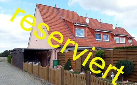 Immodrom, Immobilienmakler Magdeburg »  RESERVIERT  Kapitalanlage:  Einfamilienhaus bei Magdeburg  (Reihenendhaus)- Klein Rodensleben wtA761